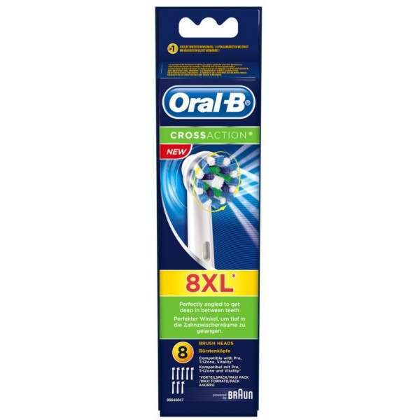 Oral-B Braun EB50-8 Cross Action 8 Pack Toothbrush Heads