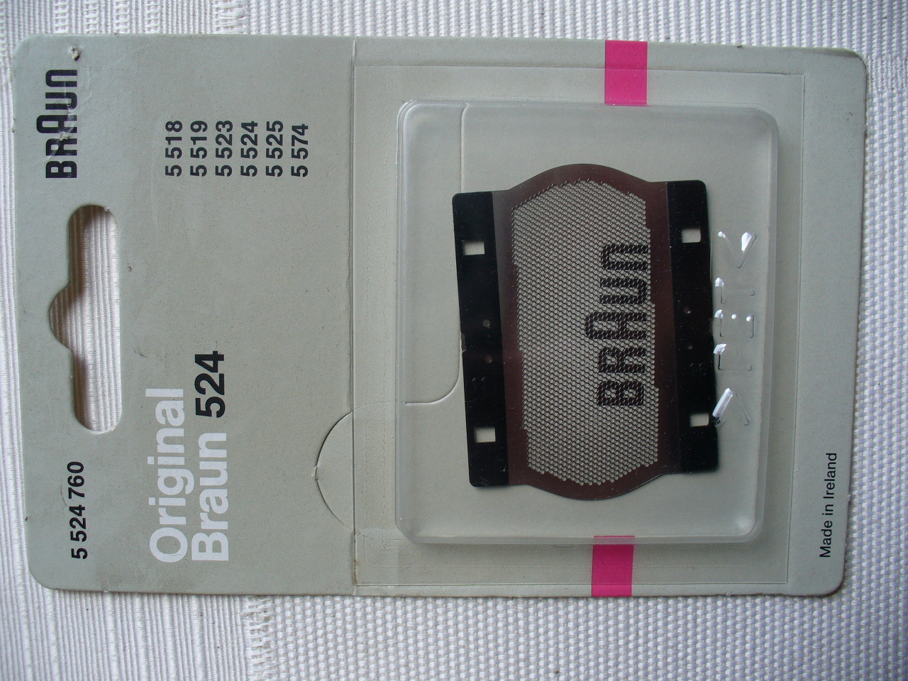 Braun Original Part 5524764 Shaver Foil for 5523,5524,