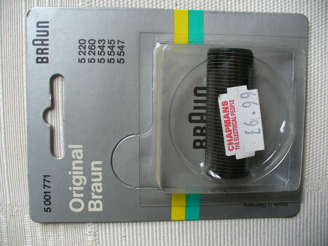 Braun Original Part 5001771 Shaver Cutter for 5220,5260