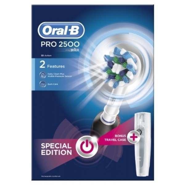 Oral-B D501.513.2X Pro 2 2500N Li-ION Black CrossAction Toothbrush