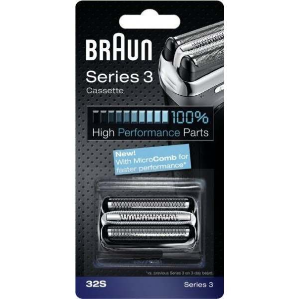 Braun 32S New Series 3 Silver Cassette Foil & Cutter Blade