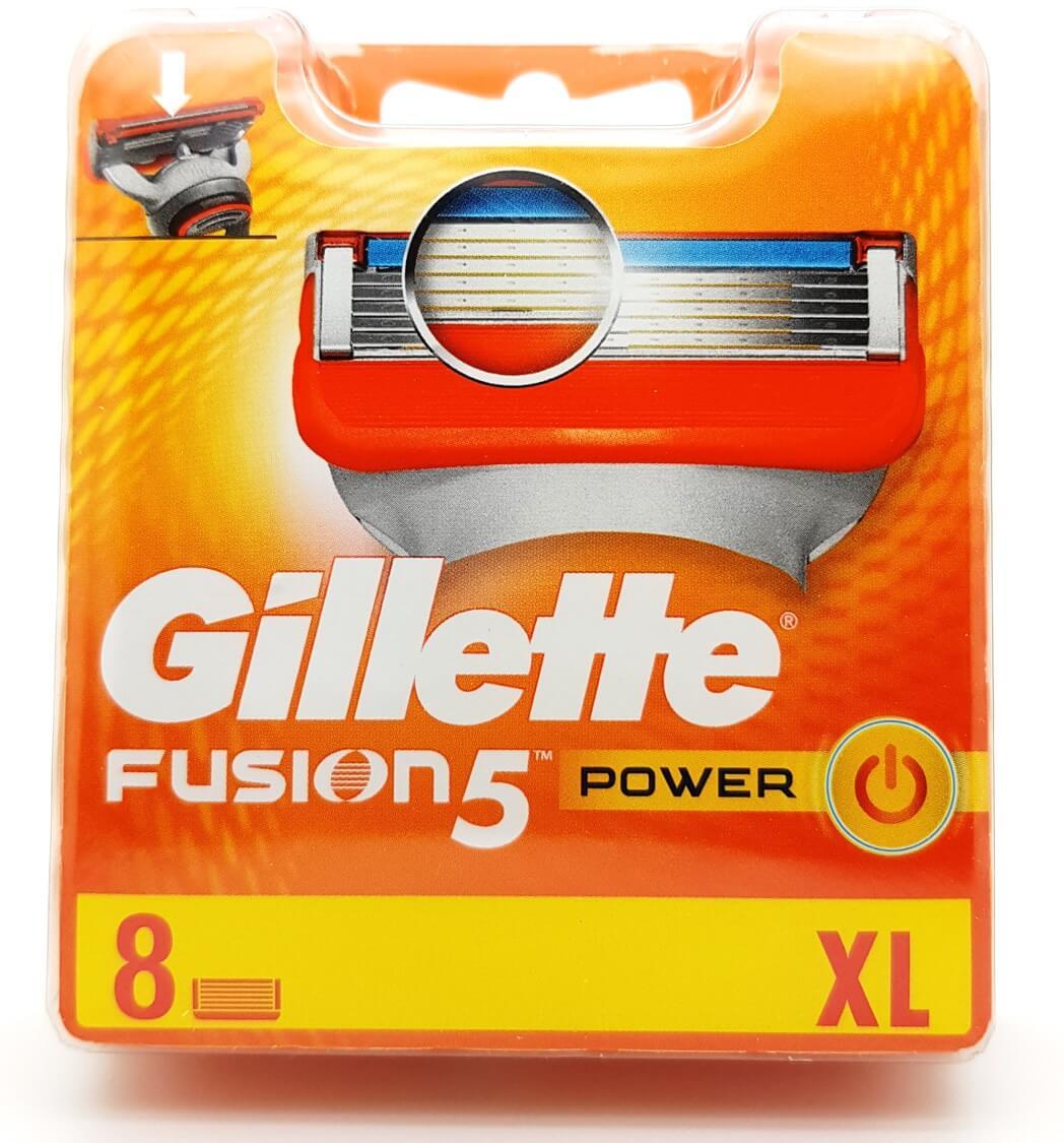 Gillette Fusion Power 8 Cartridges New 5 Razor Blades / Trimmer