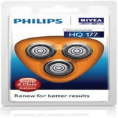 Philips Philishave HQ177 Coolskin 7000 Three Pack Round Cutting Blades