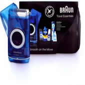 Braun M60 Battery Shaver & Travel Essentials Gift Pack