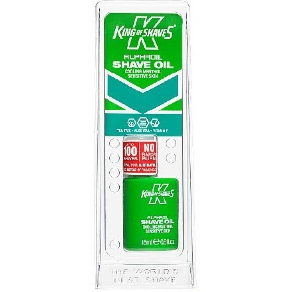 King of Shaves AlphaOil Cooling Menthol Senstive Skin Shaving Oil